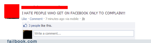 complaining,complaining on facebook