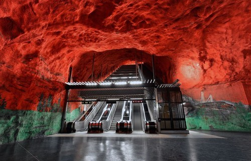 architecture design Sweden escalator