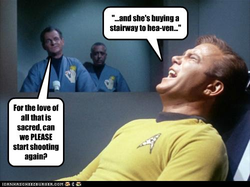 Captain Kirk,singing,please,stairway to heaven,torture,Star Trek,William Shatner,Shatnerday