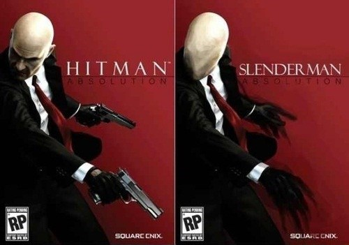 wtf video games slenderman hitman