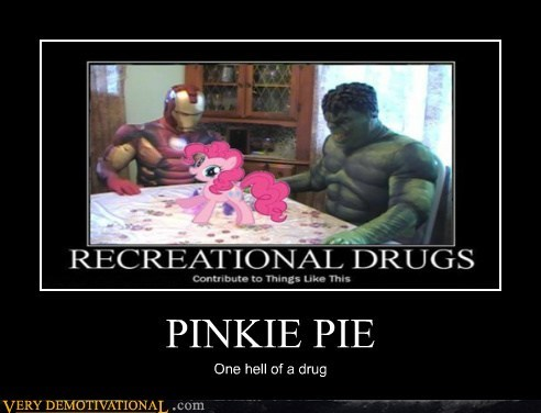 pinkie pie,iron man,drug stuff,hulk
