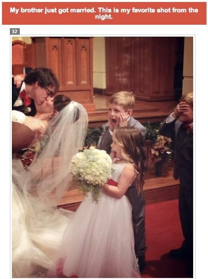 kids,KISS,wedding,shocked,omg