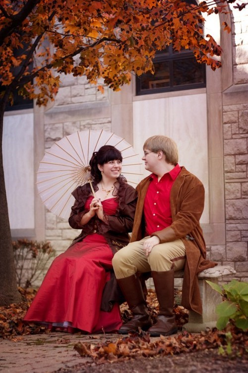 red cosplay Firefly Browncoats pretty