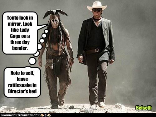 costume armie hammer director john reid revenge tonto lady gaga Johnny Depp The Lone Ranger - 7020547584