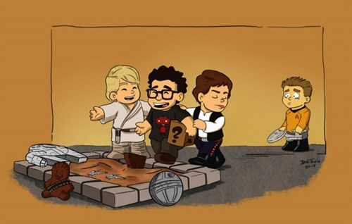 Sad Captain Kirk JJ Abrams star wars luke skywalker sand box comic Star Trek Han Solo - 7020554240
