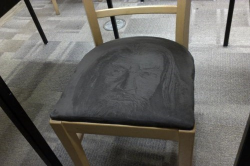 chair Lord of the Rings gandalf nerdgasm - 7020731392