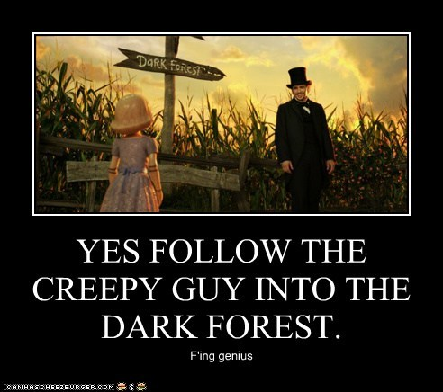 follow creepy James Franco oz the great and powerful