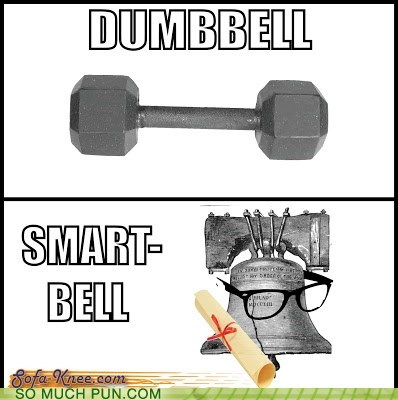 bell,smart,literalism,dumbbell,dumb,opposites