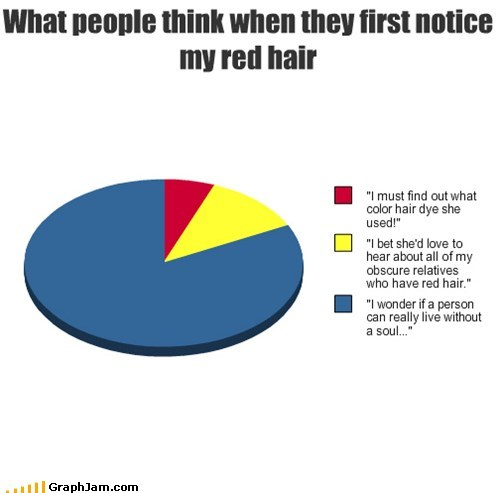 hair ginger color Pie Chart