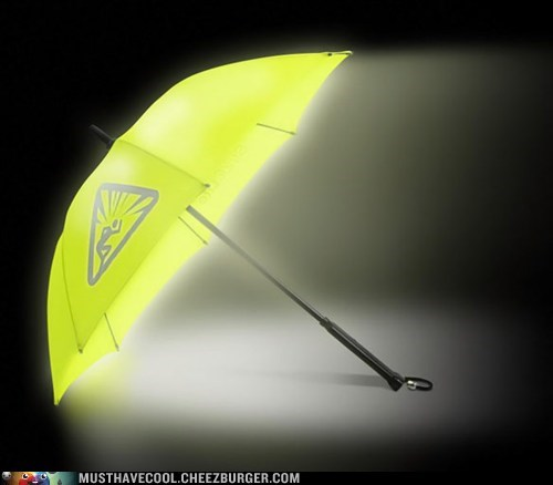 umbrella yellow light bright safety - 7022129152