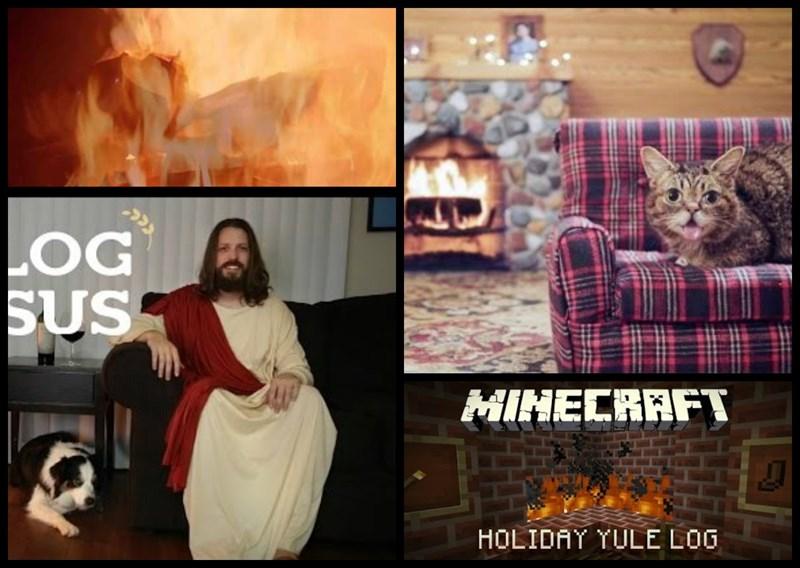 christmas list yule log funny - 702213