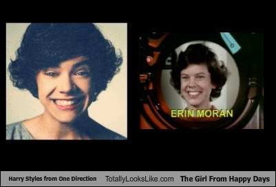 Harry Styles from One Direction Totally Looks Like The Girl From Happy Days