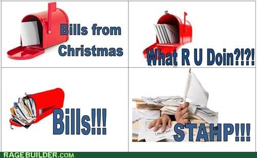 christmas,mailbox,bills,Xmas