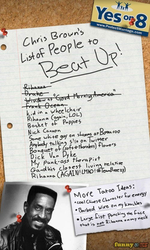 list,chris brown,beating up