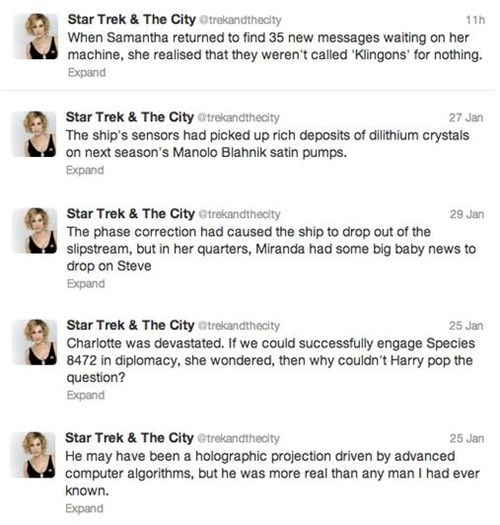 twitter sex and the city TV Star Trek