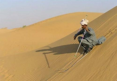 desert snow dunes sand skiing - 7022361600