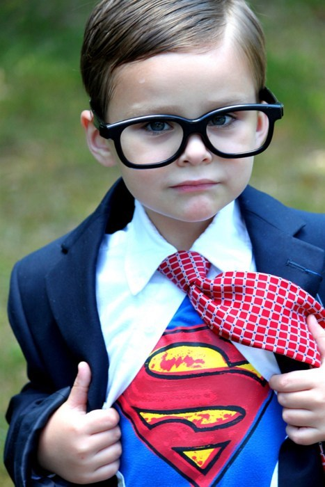 costume Clark Kent kid superman