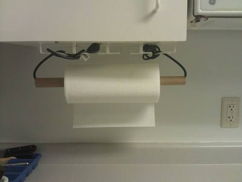 towel rack landlord paper towel