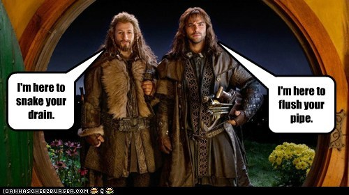 aidan turner Dean O'Gorman innuendo kili drains plumbing The Hobbit fili pipes - 7022654720