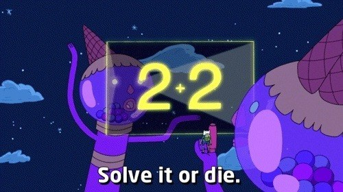 die,solve,math,adventure time