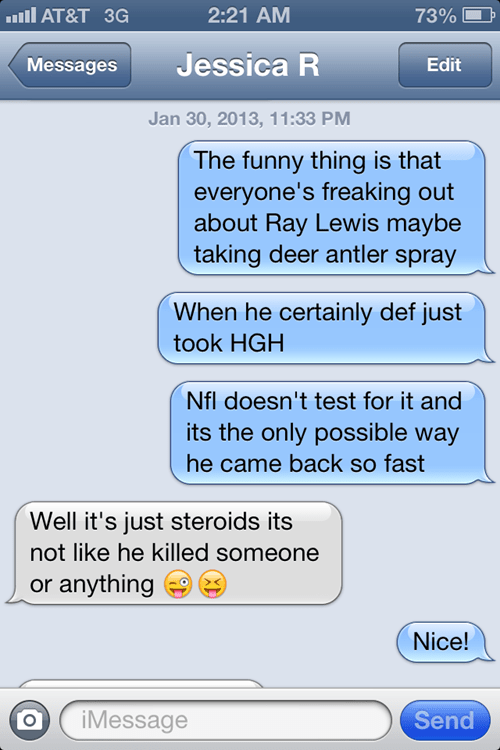 HGH,iPhones,Ray Lewis,actually,football,g rated,AutocoWrecks