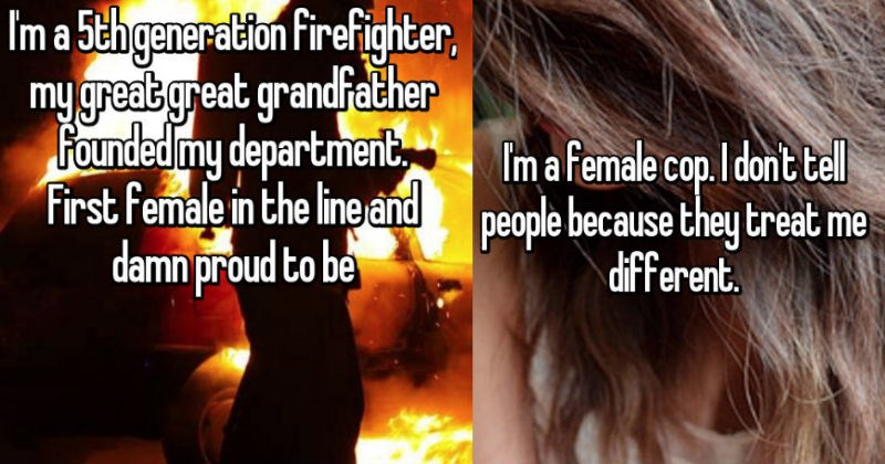 confessions from cops and firefighters