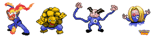 crossover Pokémon Fantastic Four superheroes - 7022902272