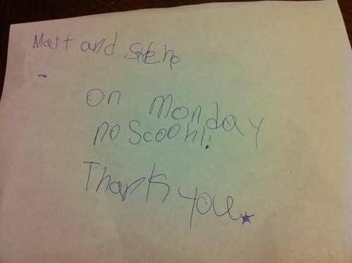 childrens-writing forgery note from teacher - 7022970368
