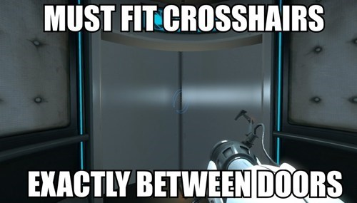 gamer,crosshairs,Portal,ocd