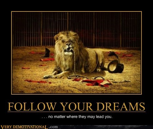 FOLLOW YOUR DREAMS . . . no matter where they may lead you.