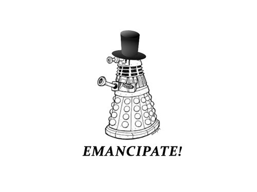 dalek abraham lincoln emancipation doctor who - 7023485184