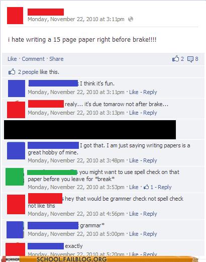 grammar facebook idiots spelling - 7023829504