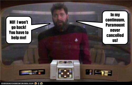 cancelled william riker Jonathan Frakes help the next generation Star Trek - 7023951616
