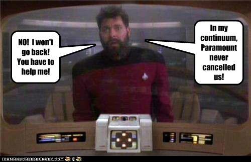 cancelled william riker Jonathan Frakes help the next generation Star Trek - 7023951616