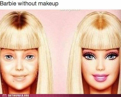 makeup,not looking good,Barbie