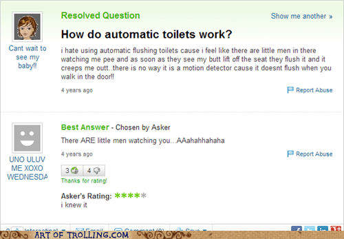 automatic pee yahoo answers toliets - 7024447232