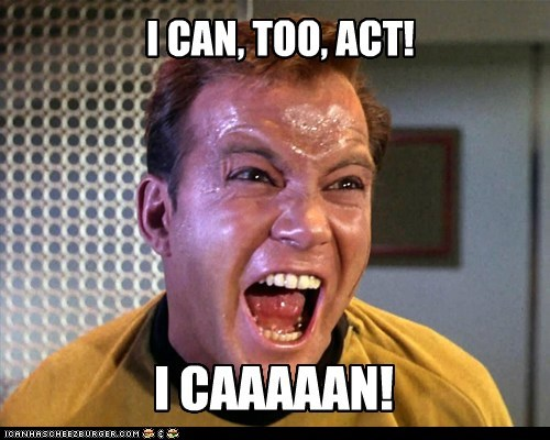 acting,Captain Kirk,khaaaaan,Star Trek,William Shatner