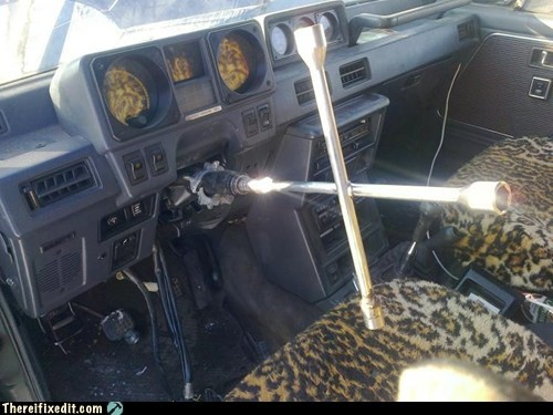 russia,steering wheel,socket wrench,g rated,there I fixed it