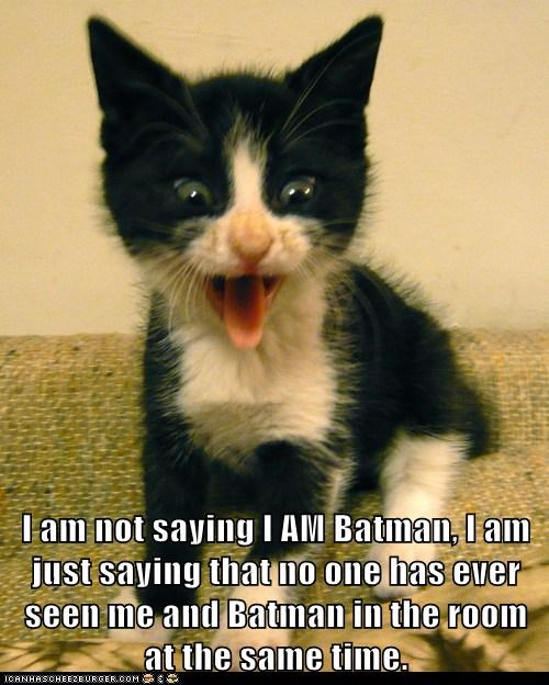I am not saying I AM Batman, I am just saying that no one has ever seen me and Batman in the room at the same time.