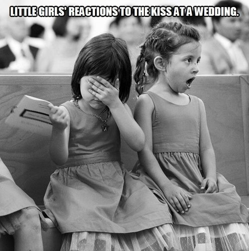 KISS,wedding,little girls