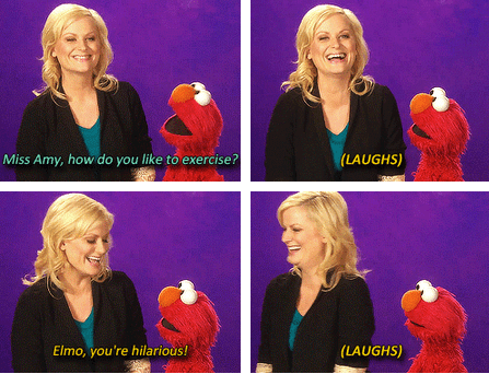 actor,elmo,Amy Poehler,TV,Sesame Street,funny