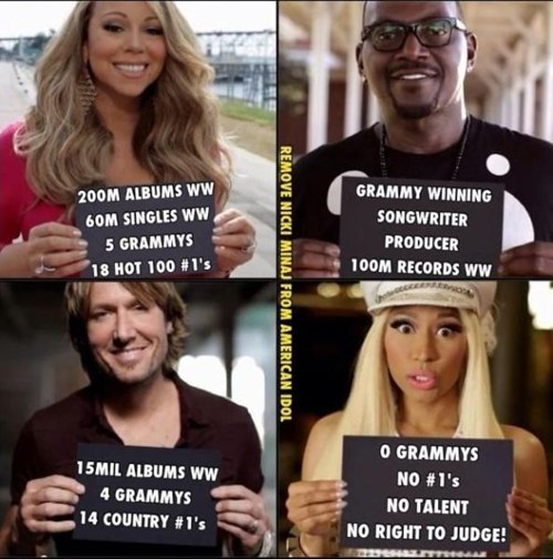 mariah carey,nicki minaj,American Idol