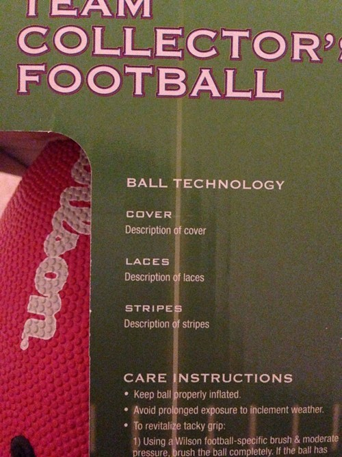 one job football description