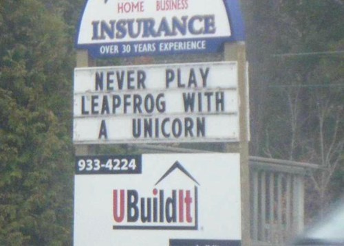 unicorn,billboard,leapfrog,advice