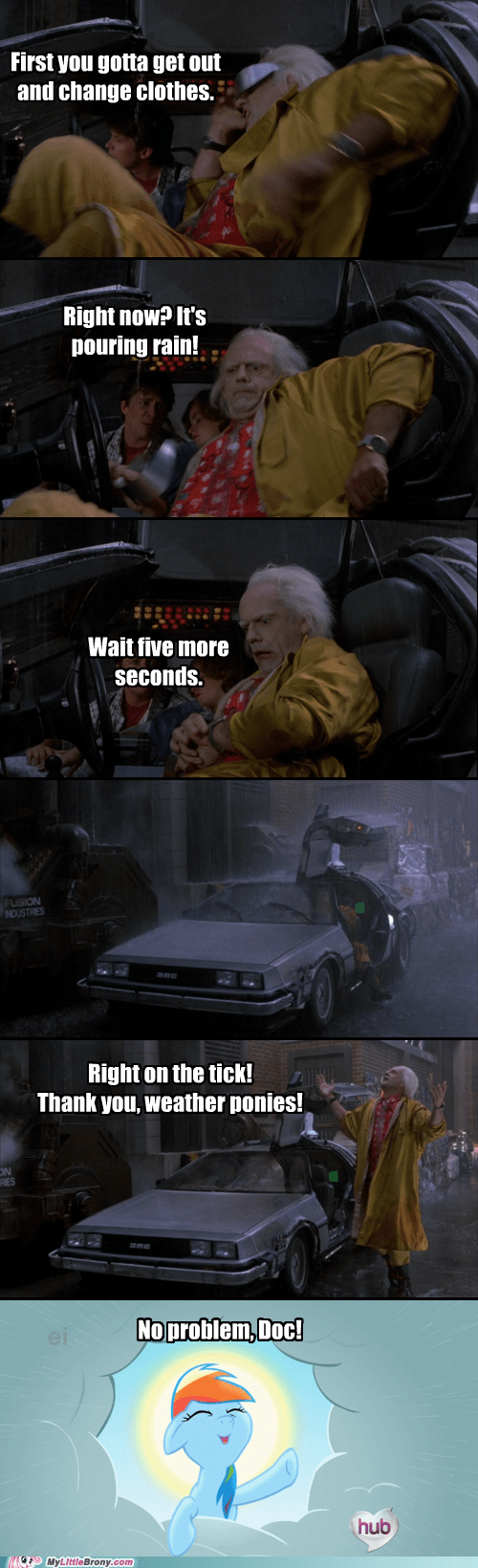 back to the future,no rain,perfect,comic