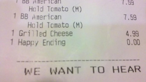 happy ending,wat,free,receipt