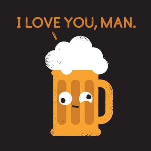 beer love you cartoons - 7026627328