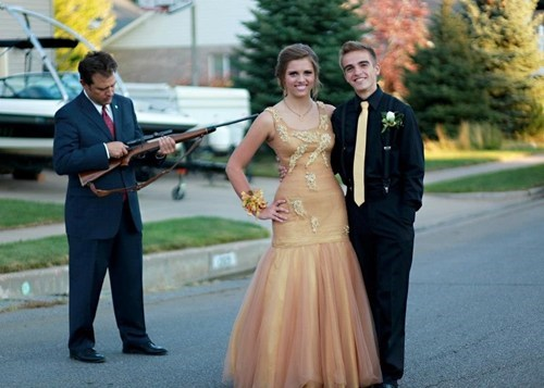 dad,shotgun,fatherdaughter,prom