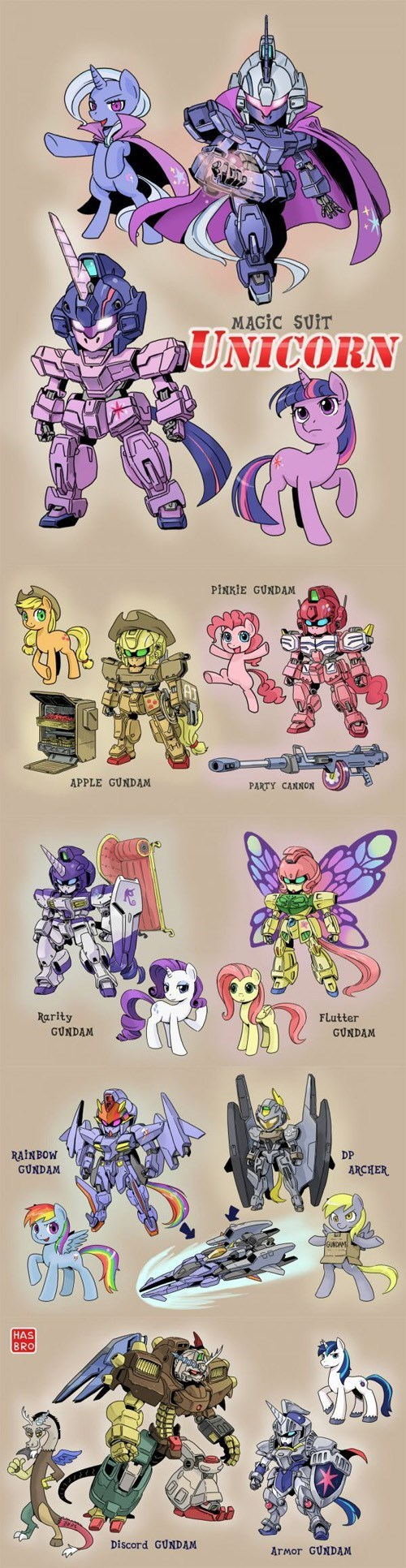 mashup,gundam,Fan Art,my little pony friendship is magic