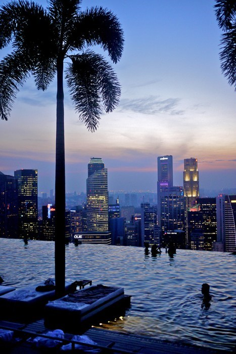 hotel resort cityscape pool singapore - 7027426304